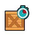 box and chronometer design vector image vector image