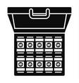 bribery money case icon simple style vector image vector image