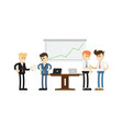business conference concept with smiling men vector image vector image