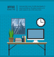 business office elements vector image
