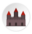 castle tower icon circle vector image vector image