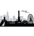 Chicago Illinois skyline vector image vector image