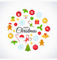 christmas design card happy greeting background vector image