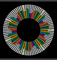 circle mosaic equalizer design isolated on black vector image vector image