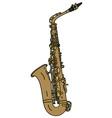 Classic brass saxophone vector image
