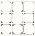 decorative frames set 50 vector image vector image