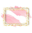 decorative square frame with glitter tinsel of vector image vector image