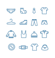 Different clothes silhouettes collection vector image vector image