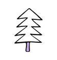 drawing of a christmas tree spruce or fir drawn vector image vector image