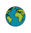 earth planet world image vector image