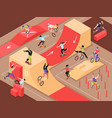 extreme urban sport isometric background vector image