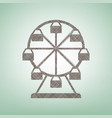 ferris wheel sign brown flax icon on vector image vector image