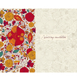 Floral Wedding Invitation vector image vector image