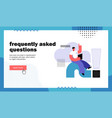 frequently asked questions website landing page vector image