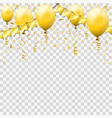 golden streamer and confetti vector image
