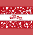 happy valentine s day text on background of vector image vector image