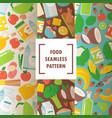 healthy organic food seamless pattern vector image vector image