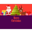 Lilac Poster Merry Christmas vector image vector image