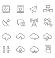 Lines icon set - network communication vector image
