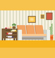 living room interior design modern flat vector image vector image