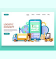 logistics concept website landing page vector image