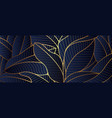 luxury gold leaf and natural background vector image vector image