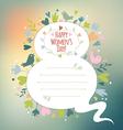 march 8 card with love symbols retro vector image