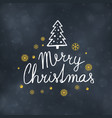 merry christmas typography design vector image vector image