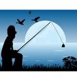 Night fishing vector image