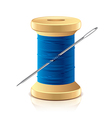 object needle and thread vector image