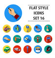 parking zone set icons in flat style big vector image vector image