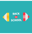Pencils Back to school card Flat design vector image vector image