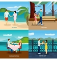 People fall in love flat set vector image vector image