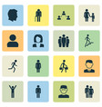 person icons set collection of scientist happy vector image vector image