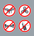 prohibition sign no hoverboard inside of round vector image vector image