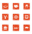 provision icons set grunge style vector image vector image