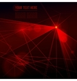 red laser light on dark background vector image