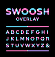 Rounded font alphabet with overlay effect letters vector image
