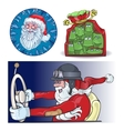 Santa Vraznykh types hurry to you vector image vector image