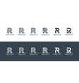 set initials letter r abstract logo design vector image vector image