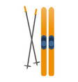 ski equipment icon cartoon style vector image
