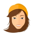 Smiling happy woman vector image