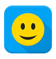 Smiling Yellow Face App Icon vector image vector image