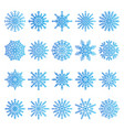 snowflakes icons collection vector image vector image