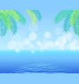 summer background with palm leaves in corner vector image
