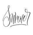 summer lettering vector image vector image