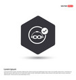 swimming mask icon hexa white background icon vector image