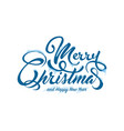 text marry christmas with snow and ice vector image vector image