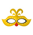 venice mask icon flat style vector image vector image