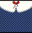 vintage blue polka-dot dress printable backround vector image vector image